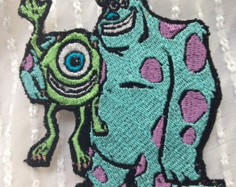 Sulley and Mike  HUGGING MONSTERS INC Patch