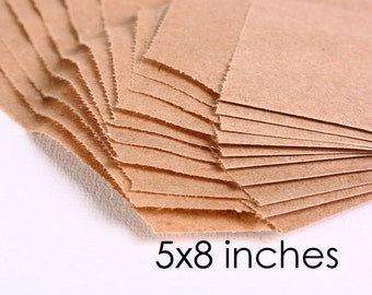 kraft paper bags 5 x 8 inches - 10 pieces (906) - Flat rate shipping