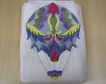 Jacobean Hot Air Balloon Towel - DISCOUNTED FOR FLAW