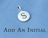Initial Charm in Sterling Silver,Stamped, Monogram Disc