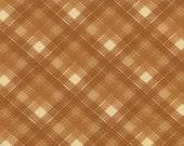 Honky Tonk by Moda, Tan Plaid Fabric, 1 Yard Fabric