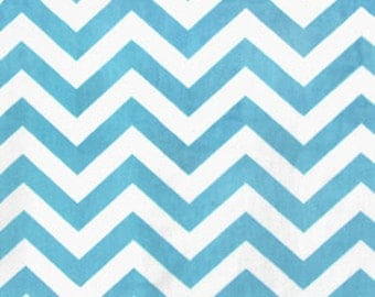 Chevron Minky, Turquiose Minky, 1 Yard Fabric, 02199
