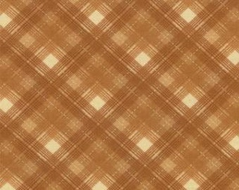 Plaid Fabric, Honky Tonk by Moda, Tan Plaid Fabric, Tan Fabric, 02299