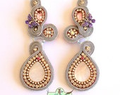 One of a kind Original Swarovski Crystal Statement Earrings - Clip On- Bridal Earrings