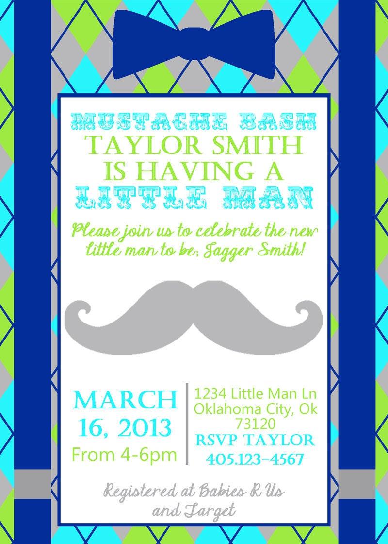 little man baby shower invitation little man mustache bash