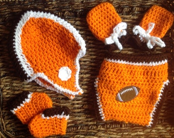 Cleveland Browns Crochet Football Gift Set