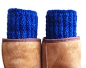 Boot Cuffs, Hand Knit REVERSIBLE Boot Toppers, Women Boot Cuff, Teen Reversible Boot Cuffs, Hand Knit Leg Warmers, Knitted Boot Toppers