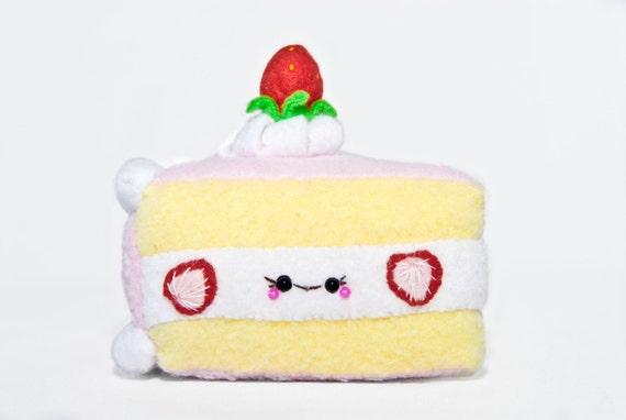 Squishy Cake Slice : Strawberry Cake Plush-Kawaii-Squishy-Slice Cake Plush-Food