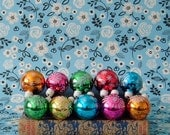 Vintage - Multi Coloured Glass Christmas Tree Decorations