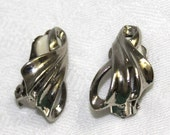 Vintage Silver Toned Clip On Earrings