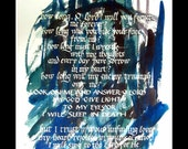 psalm 13 calligraphy print 14 x 18