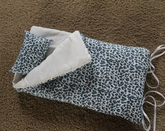 Leopard Sleeping Bag For American Girl Doll Or Bitty Or