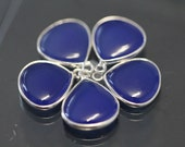 Blue Chalcedony Smooth Heart Bezel Gemstone Sterling Silver Pendant, 17.5 x 14.5 mm GM0714SP/18/SP