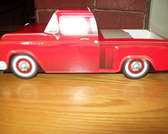 Retro  Vintage Red 57 Chevy Pickup Food Box,Popcorn Box Kids Brithday Party Set of 4