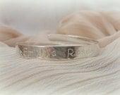 Personalised Christening Bracelet - Solid Sterling Silver 925 Child Baby Bangle Custom Bespoke Handmade