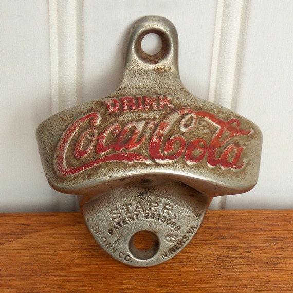 Retro Coca Cola Bottle Opener Wall Mounted