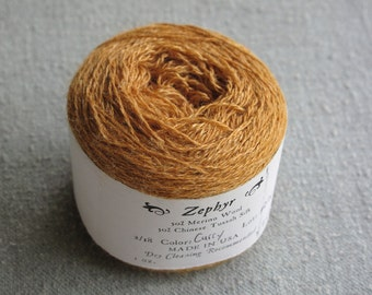Curry 2/18 Zephyr Wool/Silk Yarn