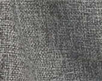 Charcoal Grey Burlap Curtain Panel Custom Drapery