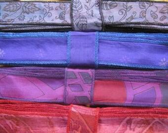 Silk Sari Ribbon, Silk Trim, 4 colors, R45