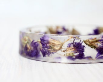 Forget-me-not bracelet - Epoxy resin bracelet - Real flower Bracelet