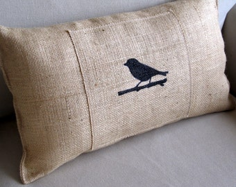 Tweet Birdie Hand Painted Lumbar Pillow
