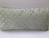 Robert Allen Decorative Pillow Cover-Both Sides-Mineral-Velvet Home Decor Fabric-Living Room Pillow-Throw Pillow