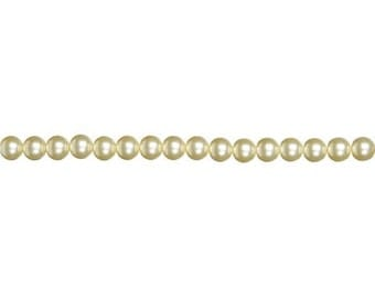12mm Cream Glass Pearls (2 Strands)