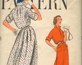 RESERVED - 1958 Vogue Pattern 9434 One Piece Dress
