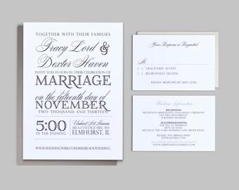 Printable Wedding Invitation Set - Custom Printable PDF