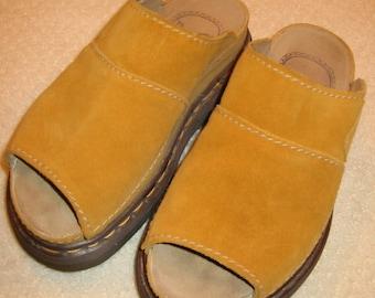 vintage gold suede 'Doc Martens'  womens sandals size 37 - gently worn