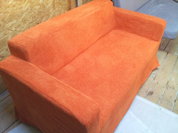 Slipcover For Klobo Sofa Ikea Orange Color Soft Material