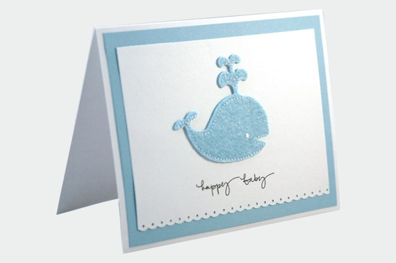 Baby Shower Card for boy, Handmade baby shower card, New Baby Boy card, Congratulations Baby Card