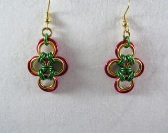 Holiday Japanese Cross Earrings