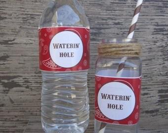 10 Western Water Bottle Labels