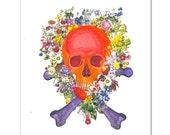 """COOL Skull - ART Print 8 x 10"""""""