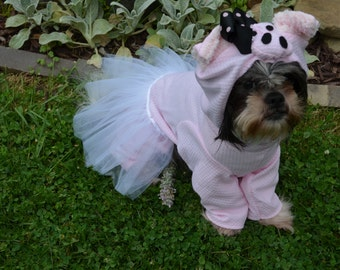 Pink Ballerina Pig with tutu  or plain pig Dog Halloween Costume