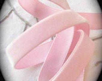 "Vintage Velvet , Lt. Pink 100% Rayon 3/8"" x 3 yds - LeRoi Brand"