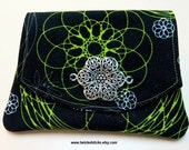 Wallet for Credit Cards, Business Card Holder, Black and Green