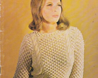 On Sale - Villawool Classic Knits and Crochet Pattern Book No 138 Vintage 1960s