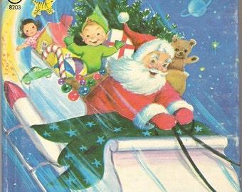 Santa's Runaway Elf Vintage Rand McNally Junior Elf Book Illustrated by Marjorie Cooper