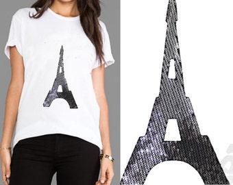 Hotfix Paris Eiffel Tower Applique Design for Fashion and Home Decor