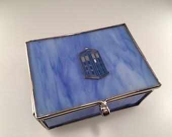 Doctor Who Inspired TARDIS Sea Glass Trinket Box