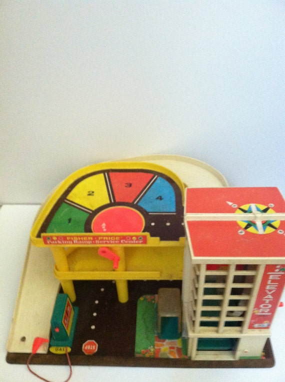 Vintage Fisher Price Original Toy Garage