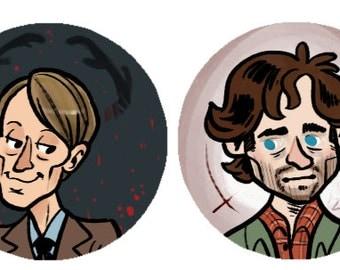 NBC Hannibal 1 Inch Button