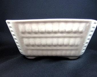 Vintage White Pottery Planter