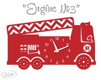 """The """"Engine No.3"""" in Red, a designer wall mounted clock from LeLuni"""