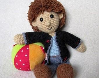 Johny the Little Boy - Amigurumi Crochet Pattern / PDF e-Book / Stuffed Animal Tutorial