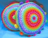Make it yourself!  Pattern rainbow mandala cushion cover