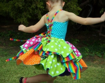 Boutique Birthday Dress Circus Dress Girls Clothing Pageant Outfit of Choice Boutique Hair Bow 6m 12m 18m 24m 2T 3T 4T 5 6 7 8
