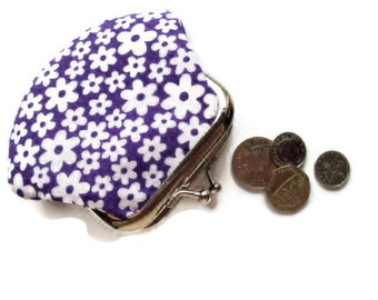 Small Change Purse - Coin Purse - Change Wallet - Framed Coin Purse - Framed Change Wallet - Fabric Purse